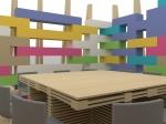 Allestimento B4Box - Colori Chrèon - Legno MAK Holz